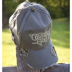 Frayed Mossy Oak Cap - Country Girl Logo
