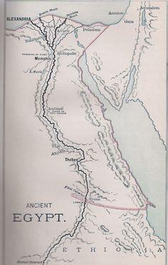 Egito antigo - Mapa
