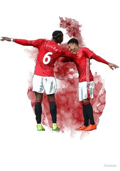 Pogba and Lingard Art - Dab byArmaan Manchester united, football, art, pogba, lingard, dab, red devils