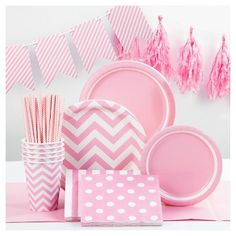 Add a pop of color to your next special celebration with the Spritz Light Pink Party Collection. The vibrant and trendy prints will coordinate beautifully with solids and other colors to bring your party theme to life. With premium strength plates, 3 ply napkins, and reusable décor, these collection pieces offer high quality at a fantastic value. The Spritz Light Pink Party Collection is great for baby showers, Bachelorette parties, kids parties, baptisms, wedding showers, Easter, moth...