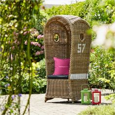 For relaxing like at sea Wicker, Backyard, Garden, Peace, Island, Furniture, Home Decor, Patio, Garten