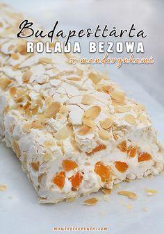 Budapesttårta - rolada bezowa z mandarynkami