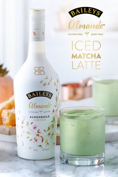 Matcha has met its match. Give your Iced Latte the taste of spring with Baileys Almande and matcha.