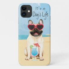 Summer French Bulldog iPhone 11 Case   pug humor, crazy gifts, cute baby pugs #secretsanta #mypeoplearebetterthenyourpeople #myfriendloveme French Bulldog Full Grown, French Bulldog Names, French Bulldog For Sale, French Bulldog Clothes, French Bulldog Blue, Weird Gifts, Crazy Gifts, Cute Baby Pugs, Cute Puppies Golden Retriever