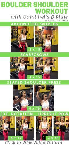 Boulder Shoulder Workout