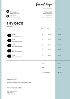 The 'Nelson' Invoice Template Receipt MS Word by EmandCoDesign Layout Design, Creative Design, Receipt Template, Invoice Template, Templates, Microsoft Word 2007, Invoice Design, Affiliate Marketing, Texts