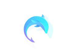 Dolphin by skyu #Design Popular #Dribbble #shots