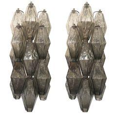 Large Polyhedral Venini Sconces