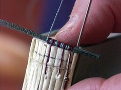 bookbinding: headbands    Website includes a summary of the hand bound book making process.