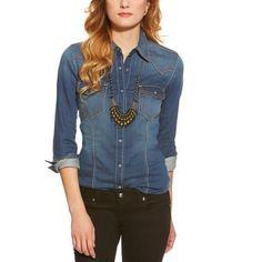 Ariat Womens Bufford Knit Denim Shirt