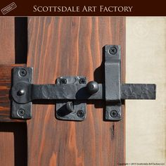 Gate Latch - Hand Forged Wrought Iron - GLH987 - Custom gate and door hardware in rustic design - handcrafted iron latch set