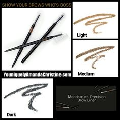 younique moodstruck precision brow liner. Define and shape your brows with rich, smudge-proof, long-wearing color. Fill in any gaps with this fine-tipped pencil that mimics the appearance of tiny hairs.  https://www.youniqueproducts.com/AngieBettineski/products/view/US-22103-00#.VwKUHvkrK70