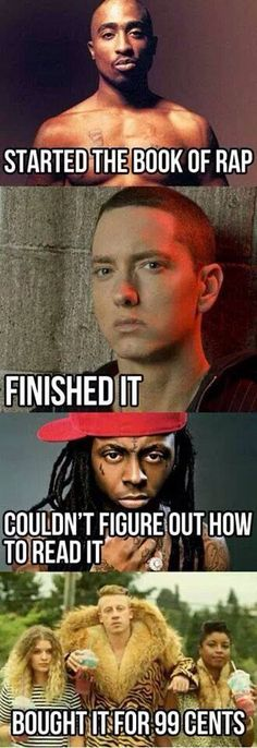 Funny pictures about The book of rap. Oh, and cool pics about The book of rap. Also, The book of rap. Music Memes, Rap Music, Music Quotes, Music Humor, Funny Cute, The Funny, We Will Rock You, Only Play, Have A Laugh