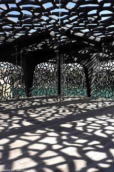 Terrasse du Mucem, où quand les ombres se font dentelle 2013, Building, Travel, Cultural Trips, Marseille, Lace, Terrace, Viajes, Buildings