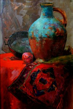 "Ucha Dzhaparidze # still life # art therapy # painting # art # canvasRead More ""Ucha Japaridze"" Still Life Drawing, Painting Still Life, Still Life Art, Minimalist Painting, Guache, Art Abstrait, Beautiful Paintings, Painting Inspiration, Painting & Drawing"