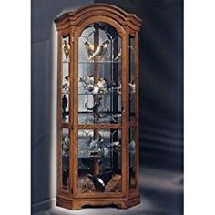 Philip Reinisch Lighthouse Barrington Corner Curio Cabinet