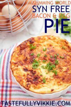 Slimming World Syn Free Crustless Bacon & Egg Pie - Tastefully Vikkie