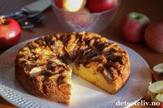 Eplekake   Det søte liv French Toast, Muffin, Food And Drink, Cookies, Baking, Breakfast, Recipes, Biscuits, Morning Coffee