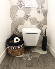 Image may contain: indoor Basin Sink Bathroom, Laundry In Bathroom, Small Bathroom, Wc Design, Floor Design, House Design, Design Ideas, Diy Bathroom Decor, Bathroom Interior Design