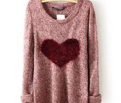 red heart sweater perfect for Valentine's day to bad it already passed
