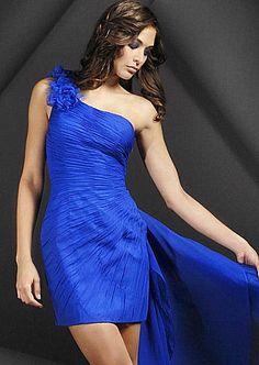 vestidos en color azul de moda