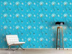 Design #Tapete Pusteblumen Blau