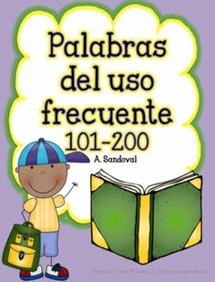 High Frequency Words 101-200 in Spanish - Angelica Sandoval - TeachersPayTeachers.com