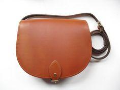 Vintage Tan Leather Saddle Bag - Handmade in UK