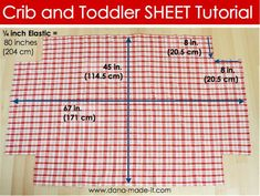 Tutorial for DIY Crib/Toddler Sheets (perfect since my colors are hard to find! Sewing For Kids, Baby Sewing, Sew Baby, Sewing Patterns Free, Free Sewing, Free Pattern, Sewing Hacks, Sewing Tutorials, Sewing Tips