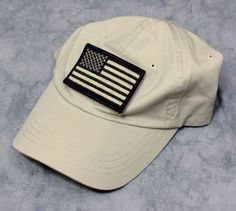 Condor American Flag Patch Adjustable Tactical Hat Cap Velcro Tan Black Cotton  #Condor #Adjustable