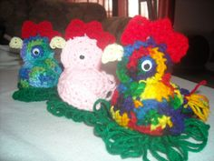 crocheted chicken with Easter egg inside by thecrochetgeek on Etsy, $10.00
