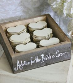 Another guest book idea, and have them drop it into a pretty jar of some kind