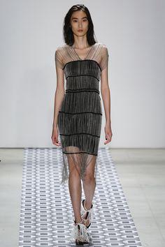 Ohne Titel | Spring 2016 Ready-to-Wear | 29 Black sleeveless mini dress with chain detail