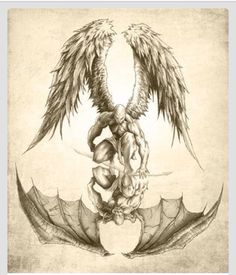 Angels and Demons - Reflection Poster Kunst Tattoos, Tattoo Drawings, Tattoo Sketches, Sexy Tattoos, Body Art Tattoos, Feminine Tattoos, Arm Tattoos, Pretty Tattoos, Temporary Tattoos