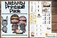 This 70+ page Nativity Pack is a wonderful way to learn about the birth of Jesus.