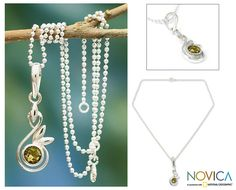 Citrine+pendant+necklace,+'New+Growth'+at+The+Animal+Rescue+Site
