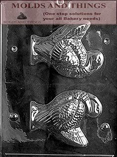 LARGE TURKEY Chocolate Candy mold with Molding Instruction- 2 mold set
