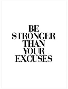 Art.com Be Stronger Than Your Excuses by Brett Wilson Unframed Wall Art Print