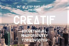 Creatif font by Out Of Step Font Company - FontSpace Creative Fonts, Cool Fonts, Blog Design, Web Design, 100 Free Fonts, Geometric Font, Hipster Design, Design Theory, Design Your Own