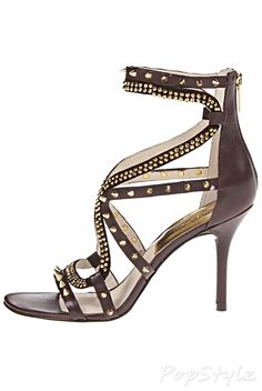 Michael Kors Larissa Dark Chocolate Leather Dress Sandal