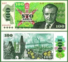 Czechoslovakia Korun banknotes for sale. Dealer of quality collectible world banknotes, fun notes and banknote accessories serving collectors around the world. Over 5000 world banknotes for sale listed with scans and images online. Folding Money, Commemorative Coins, Postage Stamps, Things To Come, World, Czech Republic, Socialism, Homeschool, Memories