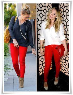 """"""" calça vermelha"""""""