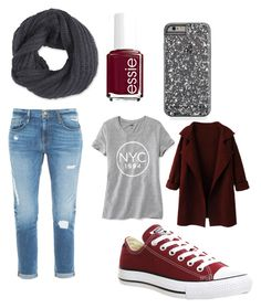 """Untitled #2"" by briar-circle on Polyvore featuring Converse, Old Navy, Frame Denim, Frenchi and Essie"
