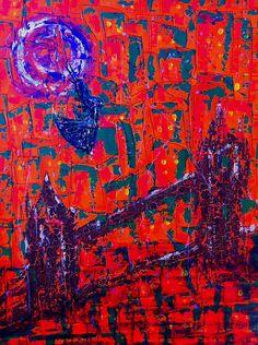 """""""Лунный закат"""", 60х80, а.х.к., 2015"""