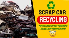 3 Steps to Scrap Car Recycling: How EU Targets once though hard are achieved and how the UK Recyling Rate Beat the Rest in 2020. Sustainable Transport, Scrap Car, Recycling Facility, Soft Flooring, Circular Economy, Crude Oil, Target, Self