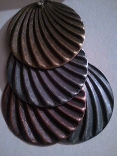wear w/brass circle dangles w/red stones