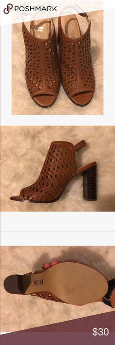 ae0250c3786a Renvy Brown Leather Laser Cut Bootie Size Brand new in the box never been  used! Extremely comfortable and for any occasion.