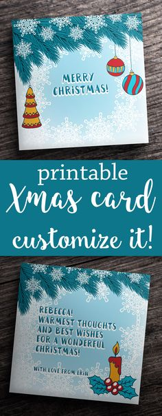 #merry #christmas #xmas #happy #new #year #card #printable #design #print #template #postcard #cards