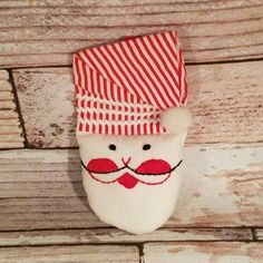Check out this item in my Etsy shop https://www.etsy.com/listing/485784633/vintage-christmas-ornament-santa-face