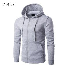 8ce0bc93c Covrlge 2018 Spring New Men Hoodies Men s Solid Hooded Sweatshirt Fashion  Slim Thin Sportswear Male Tracksuit Cardigan MWW083